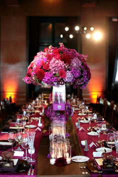hues of purple and magenta to create a masterpiece of jewel tones for wedding