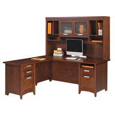 Realspace magellan collection corner workstation 63 1 2 h x 66 w x 31 1 2 d honey maple - Magellan collection corner workstation ...