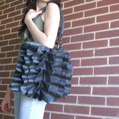 purse made from bicycle tires!