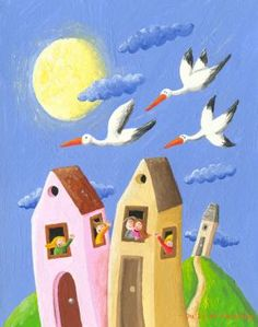 free-shipping-cartoon-children-house-scenery-oil-painting-canvas-painting-prints-on-canvas-kids-room-wall (63 pieces)