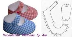 Image result for molde de sapatinho de bebe