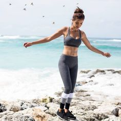 Nothing beats the feeling of E-S-C-A-P-E... Are you ready to escape with us today? Shop our Natasha Sports Bra & Natasha Core F/L Tights exclusively via lornajane.com today #ljescape #thisisactiveliving #lornajane #movenourishbelieve #activeliving