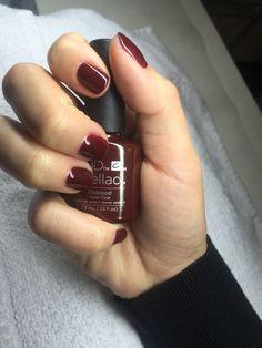 Cnd Oxblood shellac. #NailsForTheHolidays