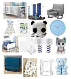 """Eliahja's Baby Room "" by jailakohn2003 ❤ liked on Polyvore featuring Lambs and Ivy, Finny & Zook, Delta, CB2, Baxton Studio, Eclipse, Aden + Anais, Lemnos, Safavieh and Universal Lighting and Decor"