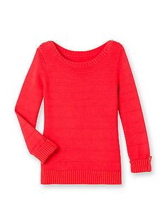 WOMANS FASHION LONG SLEEVED RED BOAT NECK JUMPER SWEATER SIZE 10 / 12  (A35) £13.50