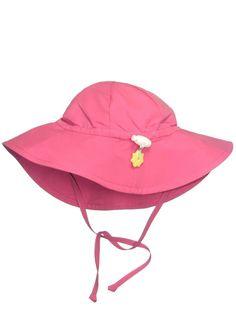 Iplay Baby Infant Toddler Unisex UPF 50 Solid Brim Sun Hat / Beach Hat by Iplay - Hot Pink - 2-4 Years