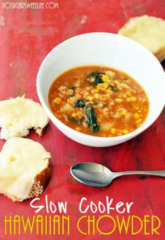 {Slow Cooker Hawaiian Chowder} | The No Sugar Sweet Life