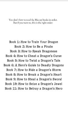 How to Train Your Dragon series in order by Cressida Cowell