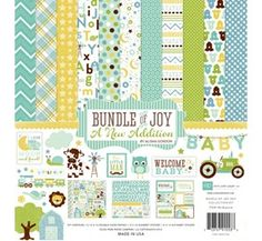 Echo Park Bundle of Joy 2 Collection Kit Baby Scrapbook Kit