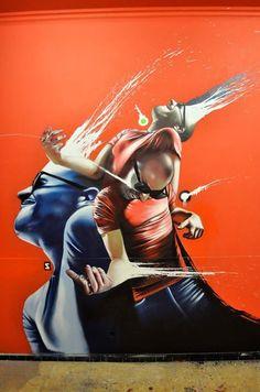 street art kunst urban art design aerosol art painting paint streetart urbain gallery artwork www. Graffiti Art, Graffiti Painting, Street Art Love, Amazing Street Art, Wall Street, Space Artwork, Street Installation, Expositions, Dope Art