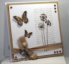 Kraft Butterflies Handmade card