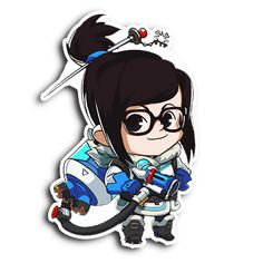"""Enjoy this 4.5"""" tall Spray of your favorite Overwatch character, in sticker FORM!"""
