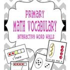 Primary Math Vocabulary visuals: -5 frame -10 frame -1 more than -1 less than -more -less