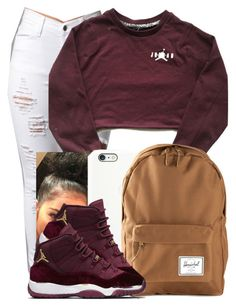 A fashion look from December 2016 featuring Herschel Supply Co. Browse and shop related looks. Swag Outfits For Girls, Cute Swag Outfits, Teen Fashion Outfits, Teenager Outfits, Dope Outfits, Trendy Outfits, Girl Outfits, Baddie Outfits Casual, Jordan Outfits