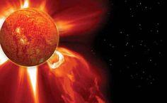 A stunning solar flare.