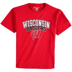 Wisconsin Badgers Champion Youth Jersey T-Shirt - Red - $12.79