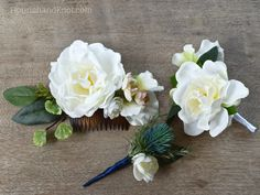 Make your own DIY hair accessories for a wedding, prom, or ball using gorgeous silk flowers. I'll show you how to create a romantic DIY hair comb.