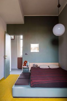 Colourful Promenade Apartment in Turin by SCEG ARCHITECTS.