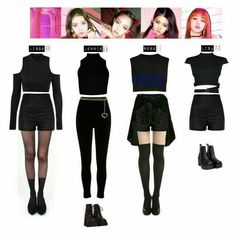 A fashion look from November 2017 featuring cut-out sweaters, boxy crop tops and high neck crop top. Browse and shop related looks. Blackpink Outfits, Stage Outfits, Korean Outfits, Dance Outfits, Polyvore Outfits, Fashion Outfits, Blackpink Fashion, Korea Fashion, Womens Fashion