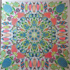 #lost ocean page 4 Square Turtle Mandala