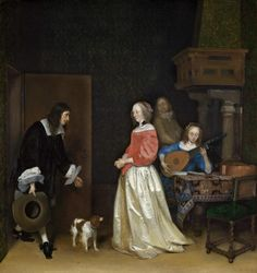 Gerard ter Borch, The suitor's visit (ca. 1658, National Gallery of Art, Washington)