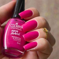 Red Manicure, Pink Nails, Garra, Nail Ring, Pretty Nails, Nail Colors, Nailart, Make Up, Nail Polish