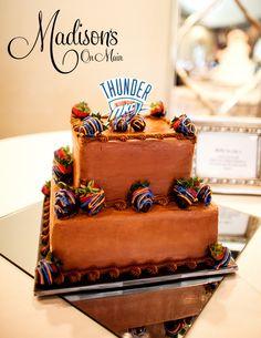 A nice simple grooms cake