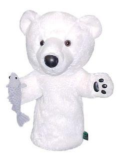 Winning Edge Designs Polar Bear with Fish- Eliminate Global Warming Golf Headcover Polar Bear Club, Golf Headcovers, Golf Club Head Covers, Bear Head, Jungle Animals, Edge Design, Global Warming, Sports Equipment
