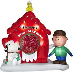 Snoopy Peanuts 7 Ft Airblown Inflatable @ niftywarehouse.com