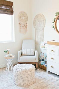 Ideas for a Gorgeous Boho Inspired Nursery - Baby Room Ideas Nursery Room, Girl Nursery, Girl Room, Baby Room, Nursery Decor, Room Decor, Nursery Ideas, Nursery Blinds, Nursery Artwork
