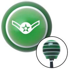 White Airman Green Stripe Shift Knob with M16 x 15 Insert - Give your interior the ultimate look. American Shifter's Elite(TM) series shift knobs are made from the highest quality components resulting in a superior feel on every shift. Each shift knob is designed and customized in the USA by skilled shift knob artisans who have a trained eye on every detail. American Shifters shift knobs offers an exclusive aluminum threaded insert designed to be screwed onto your shift arm. You should avoid…