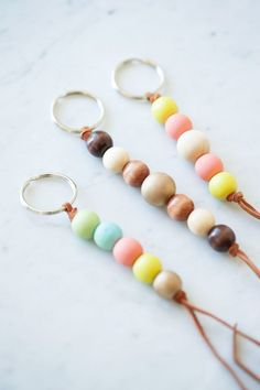 DO: Family Keychains - Make keychains representing family. Use blue and pink beads for children and white for heavenly babies.