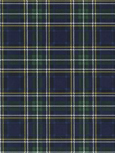 Even if you're not into kilts, you can still take plaid to your walls with this Ralph Lauren Wallpaper | AmericanBlinds.com