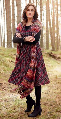 Monsoon-tartan dress