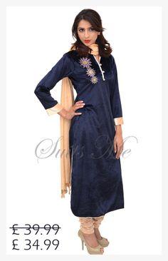 New Arrivals available @ BIG SALE http://www.suitsmeonline.com/womens/salwar-kameez/salwar-suits/trouser-suit/sml2654.aspx