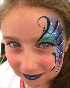 When you think about face painting designs, you probably think about simple kids face painting designs. Many people do not realize that face painting designs go Dragon Face Painting, Eye Face Painting, Face Painting Designs, Body Painting, Paint Designs, Kids Witch Makeup, Kids Makeup, Makeup Eyes, Orca Tattoo