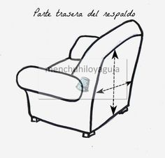 Como medir un sofá para confeccionar una funda. Outdoor Chairs, Outdoor Furniture, Outdoor Decor, Diy Sofa, Slipcovers For Chairs, Mickey Mouse, House Design, Home Decor, Fabrics