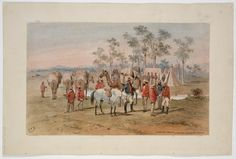 Burke and Wills Expedition / Samuel Thomas Gill. 4. Pioneer party leaving Cooper's Creek