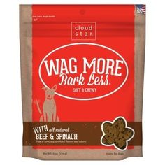 Soft Chewy Beef Spinach Usa - 6 Oz