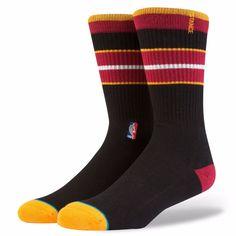NEW STACE NBA Heat Arena Core Black Classic Crew Socks Mens Size L (9-12) #Stance #Crew