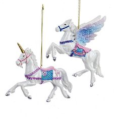 Kurt Adler 45 Resin Pegasus Unicorn Ornaments * You can find more details by visiting the image link. Unicorn Ornaments, Pegasus, Enchanted, Camel, Fantasy, Resin, Christmas Ornaments, Unicorns, Holiday Decor