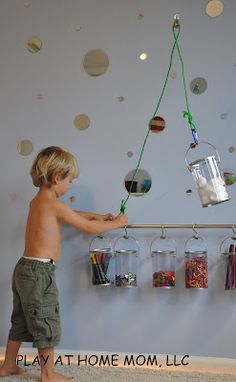 """Pulleys and Carabiners for kids"""