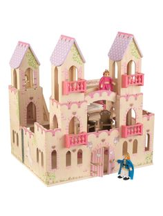 Every royal family needs a place to call home. Our KidKraft Princess Castle with Furniture is the perfect palace. With balconies, horse stables. Castle Dollhouse, Wooden Dollhouse, Wooden Dolls, Done By Deer, Throne Room, Princess Castle, Princess Party, Horse Stables, Kids Store