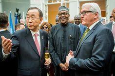 Ekpo Esito Blog: Photos: Ban Ki Moon, Buhari,  FW Steinmeier at a c...