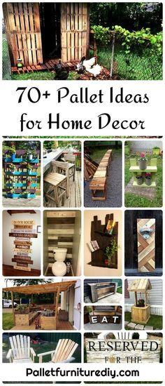 70+ Pallet Ideas for Home Decor | Pallet Furniture DIY