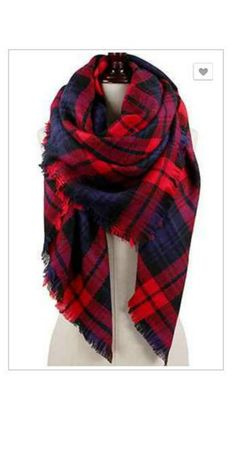 SCARVES   All About the Plaid - Red
