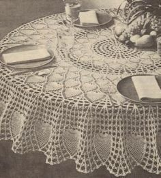 Free Crochet Round Pineapple Tablecloth Pattern I SAW THIS TABLECLOTH DONE ON FB (https://www.facebook.com/AuntLydiasCrochetThread) TALK ABOUT BEAUTIFUL