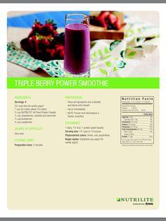 Smoothie Ingredients, Smoothie Recipes, Smoothies, Nutrilite Vitamins, Amway Business, Power Smoothie, How To Eat Better, Plant Protein, Vanilla Yogurt