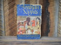 Arabian Nights Classic Book Illustrated Book by NewFoundVintiques