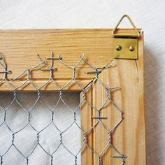 jewelry display- love the chicken wire idea! Jewellery Storage, Jewellery Display, Diy Jewelry Wall Display, Jewelry Organization, Jewelry Booth, Jewelry Hanger, Jewelry Rings, Chicken Wire Frame, Craft Fair Displays
